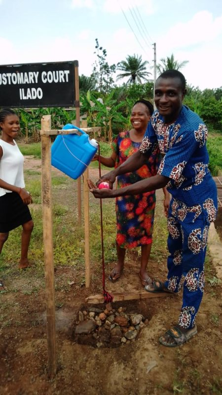 Three wash stations installed in Ilado Community